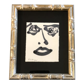 Original Contemporary Robert Cooke Small Abstract Face Painting For Sale