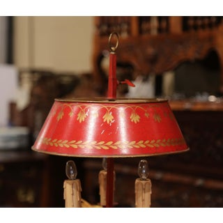 Early 20th Century French Hand Painted Tole Three-Light Bouillotte Table Lamp Preview
