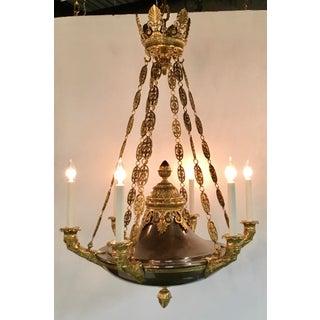 Myran Allen Luxury Lighting Classical Empire Style Italian Bronze Chandelier Preview