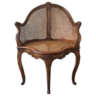 18th C. French Desk Chair For Sale