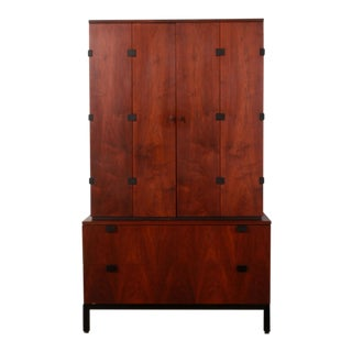 Mid Century Modern Milo Baughman for Directional Walnut Highboy For Sale