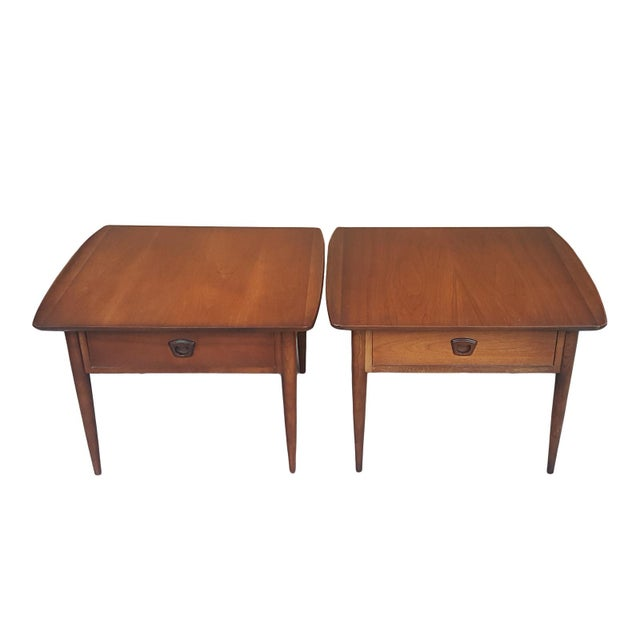 Bassett Mid-Century Modern Artisan End Tables - A Pair - Image 2 of 10