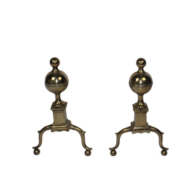 19th-C English Andirons - A Pair - Image 1 of 4