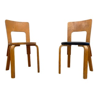 Alvar Aalto Model 66 Chairs by Finmar - a Pair For Sale
