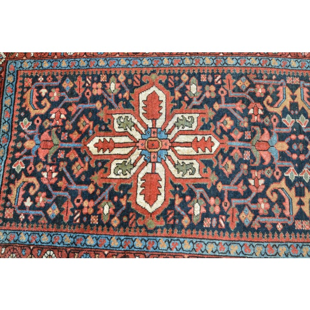 Antique Persian Heriz Karajeh Runner- 3′6″ × 8′10″ - Image 9 of 11