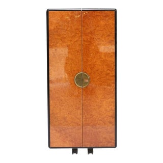 Burl Cocktail Cabinet For Sale