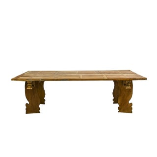 Hand Crafted Bali Teak Table For Sale