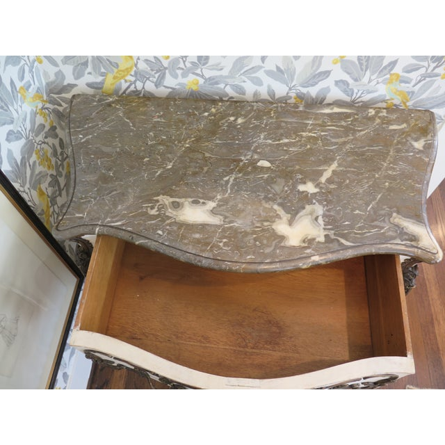 White 19th Century Rococo Painted Commode For Sale - Image 8 of 9