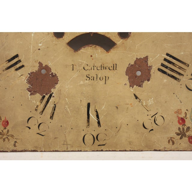 Country 19th-C. English Hand-Painted Clock Face For Sale - Image 3 of 5