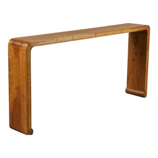 20th Century Chinese Walnut Ribbon Table For Sale