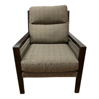 Contemporary Upholstered Arm Chair For Sale