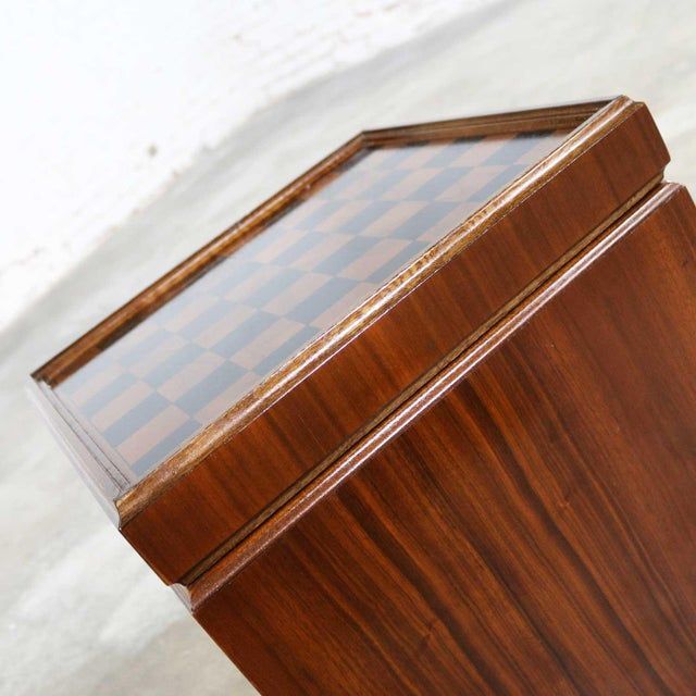 Lane Furniture Mid Century Modern Lane Rolling Cube Storage Ottoman With Game Board Flip Table Top For Sale - Image 4 of 13