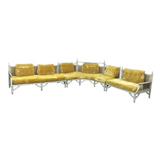 Original 3 Piece Hexagon Herb Ritts Couch Settee For Sale