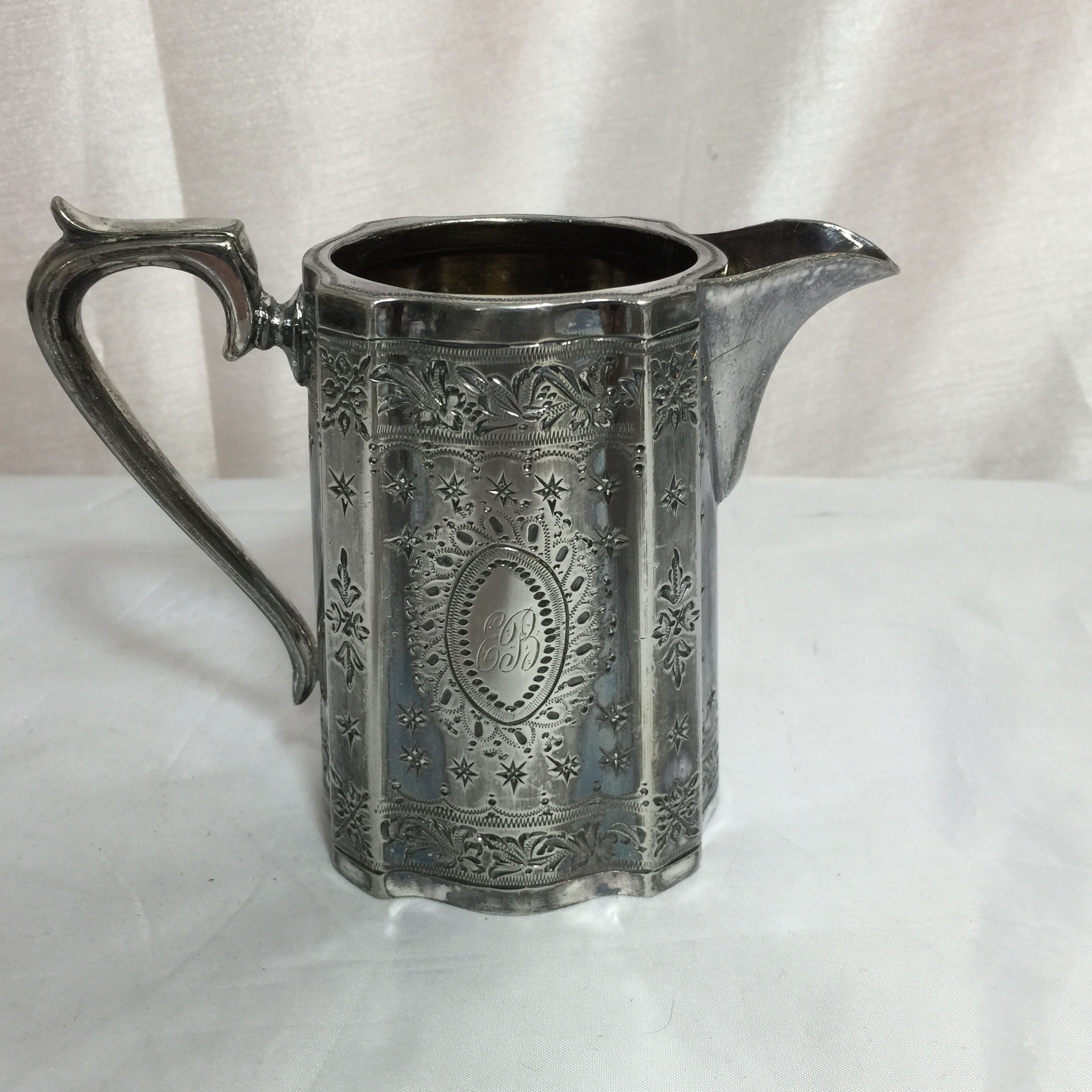Victorian Silver Plated Tea Set - Image 4 of 7 & Victorian Silver Plated Tea Set | Chairish