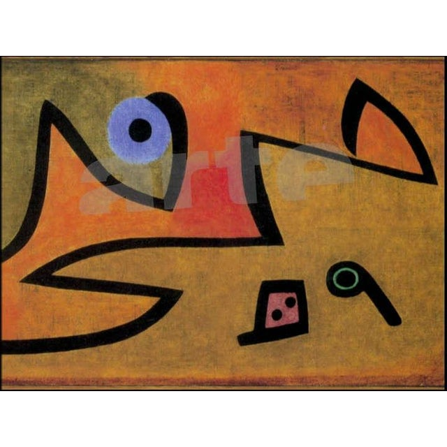 Paul Klee - Silence of the Angel - Inspired Silk Hand Woven Area - Wall Rug 4′6″ × 5′7″ For Sale - Image 10 of 11