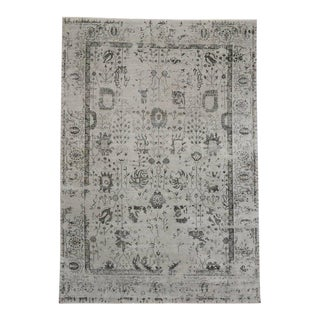 "New Contemporary Area Rug With Oushak Pattern and Modernist Chippendale Style - 10' X 14'1"" For Sale"
