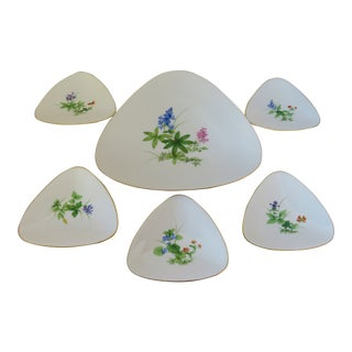 Meissen Porcelain Appetizer Set, 6 Pieces For Sale