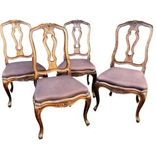Mid 19th Century Italian Neoclassical Dining Chairs - Set of 4 For Sale