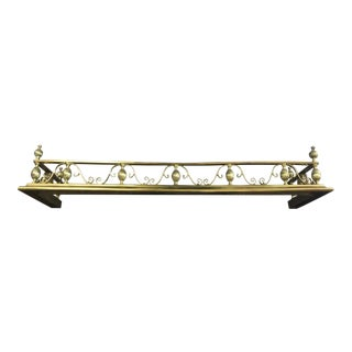 George III Style Brass Fireplace Fender 19th Century For Sale