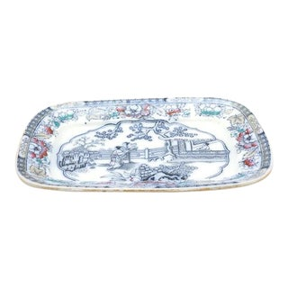 English Imari Asian Style Platter For Sale