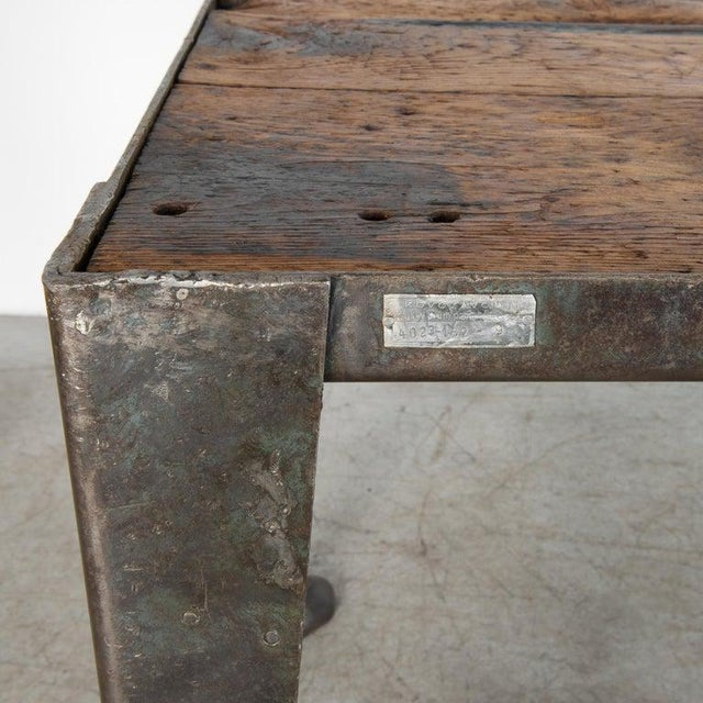 Mid-20th Century Industrial Czech Table For Sale In Greensboro - Image 6 of 7