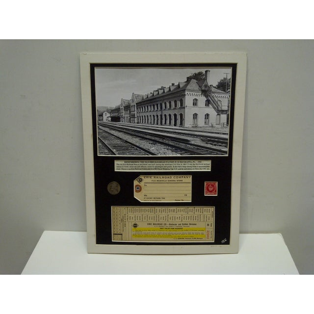 1941 Erie Railroad Company Multi-Media Collage For Sale - Image 4 of 4