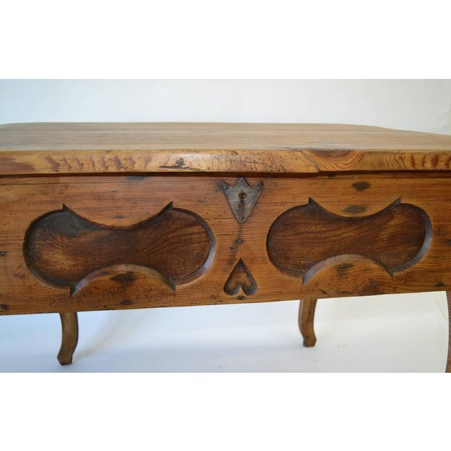 Pitch Pine and Oak Baroque Revival Centre Table For Sale - Image 4 of 8