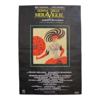 Original Italian Movie Poster - 1985, La Donna Delle Meraviglie