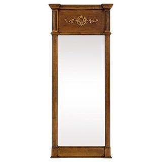 Empire-Style Mirror W Gilded Scrolls