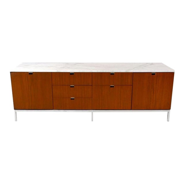 Credenza, Teak & Marble by Florence Knoll For Sale