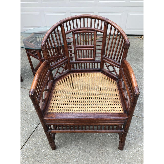 Asian Vintage Brighton Bamboo Wicker Furniture Sofa - Set of 3 For Sale - Image 3 of 11