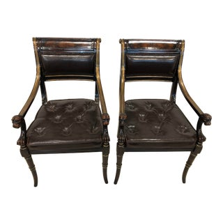 Vintage Theodore Alexander Neo-Classical Arm Chair - Pair For Sale