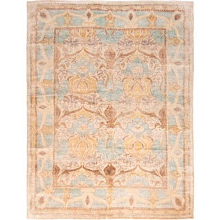 Arts and Crafts Rug & Kilim Classic Hand Knotted Ornate Rug For Sale
