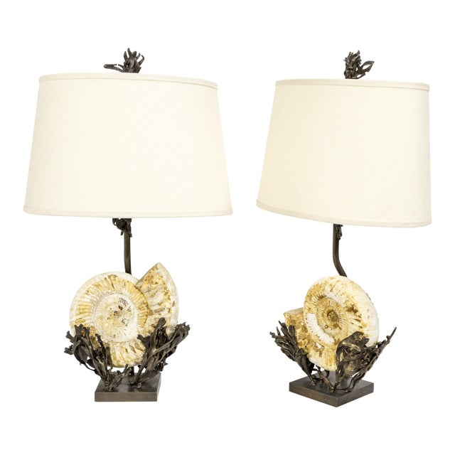Nautilus Laurasia Table Lamps (2 Available) For Sale