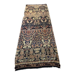 Late 19th Century Antique Ceremonial Indonesian Ikat Wall Tapestry For Sale