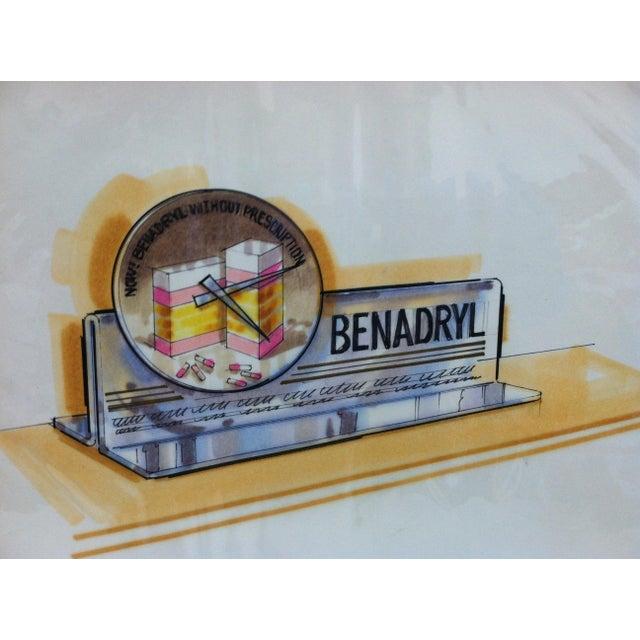 "American 1980s ""Benadryl"" Displayco East Original Advertising Drawing For Sale - Image 3 of 5"