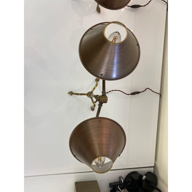 2010s Ferrante Articulating Table Lamps With Shades - a Pair For Sale - Image 5 of 8
