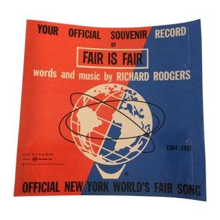 Fair Is Fair Richard Rodgers Souvenir 1964 Record