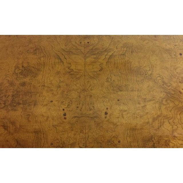 Mid-Century Burlwood Floating Console Table, Desk - Image 10 of 10