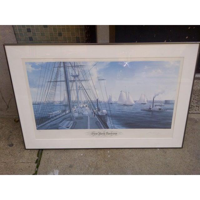 Nautical John Mecray New York Harbour Print, 1851 For Sale - Image 3 of 10