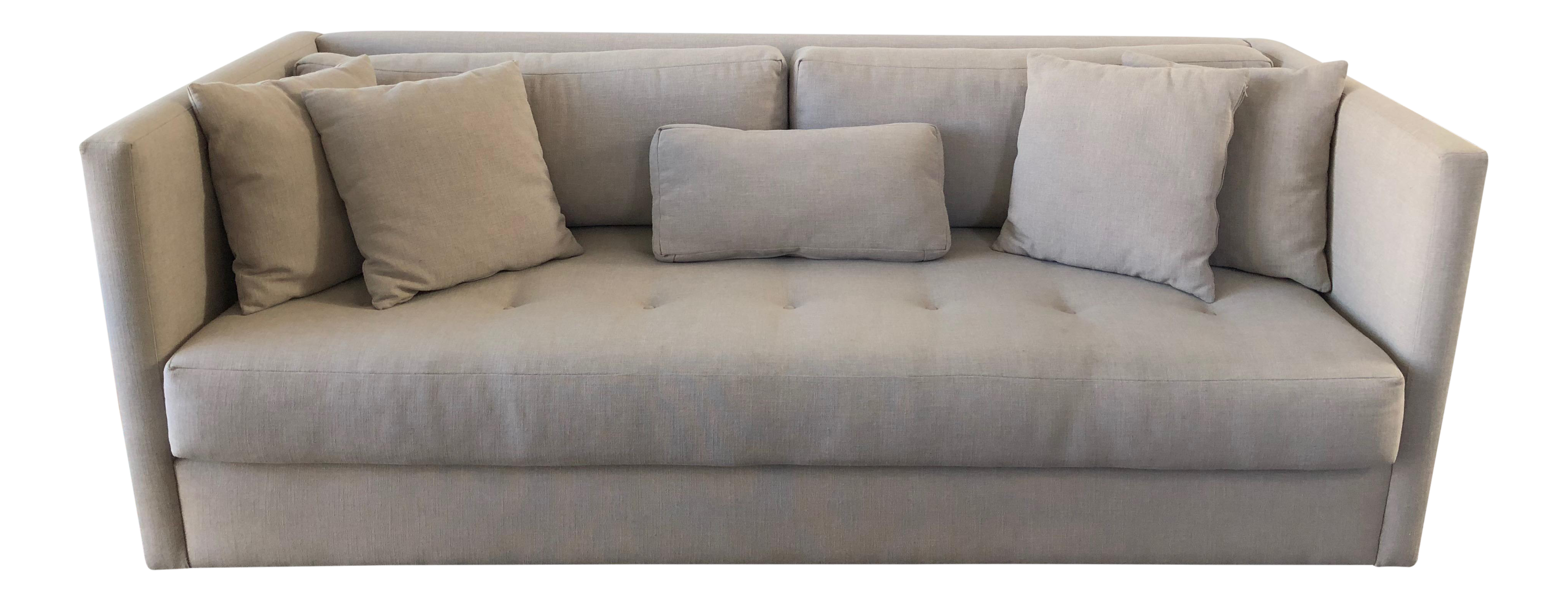 HD Buttercup Gray Linen Aria Sofa