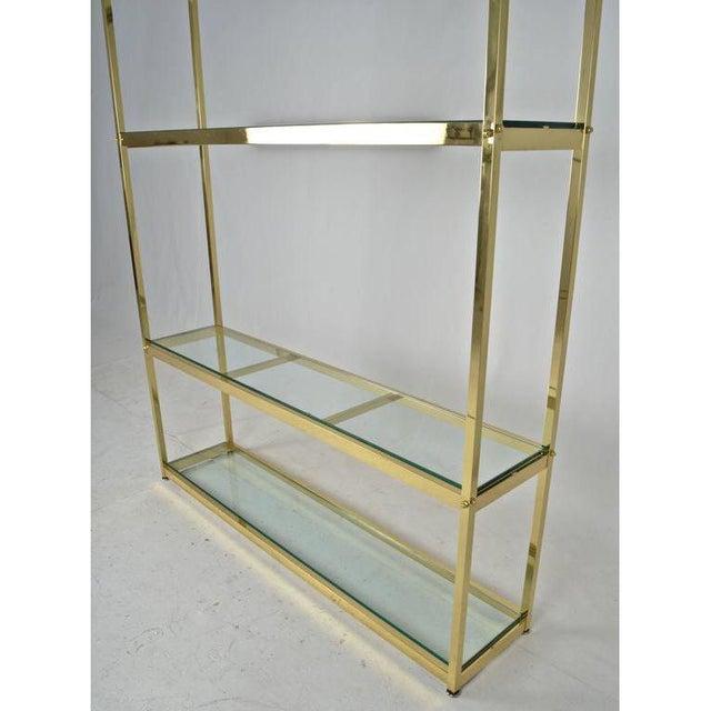 Mid-Century Modern Brass Étagère For Sale - Image 3 of 7