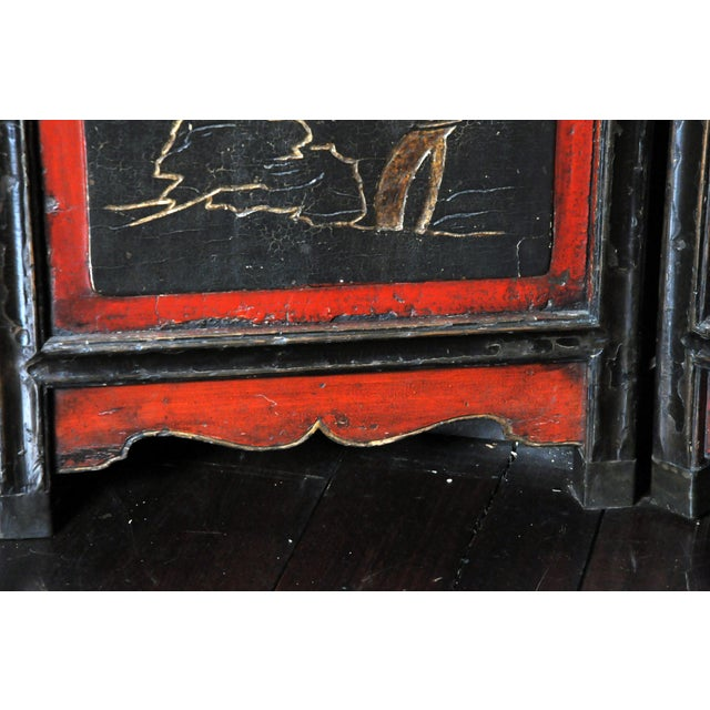 Late 19th Century Chinese Eight-Panel Floor Screen For Sale - Image 5 of 13