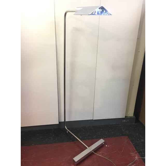 1960s Mid-Century Modern Koch & Lowy Chrome Floor Lamp For Sale In San Francisco - Image 6 of 9