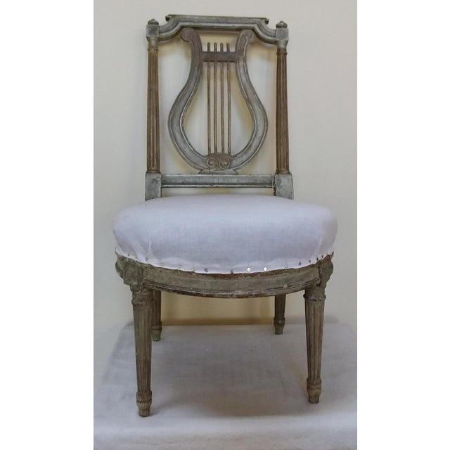French Antique French Slipper Chair For Sale - Image 3 of 6