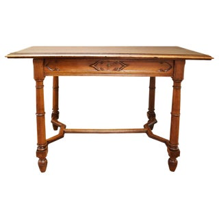 19th Century French Walnut Writing Desk For Sale