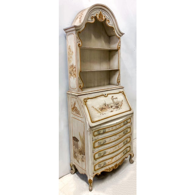 Hand Painted Venetian Secretary For Sale - Image 4 of 9