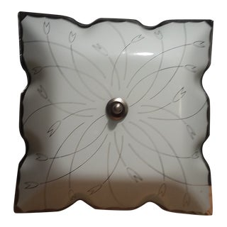1950s Tulip Pattern Flush Mount For Sale