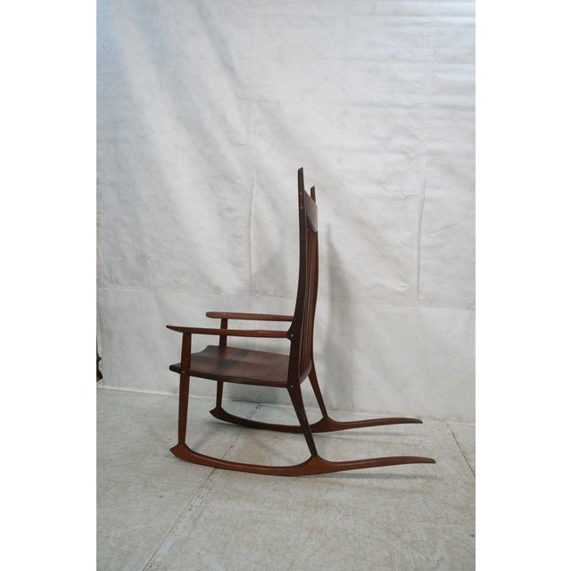 Tall Oversized American Craftsman Rocking Chair - Image 3 of 10