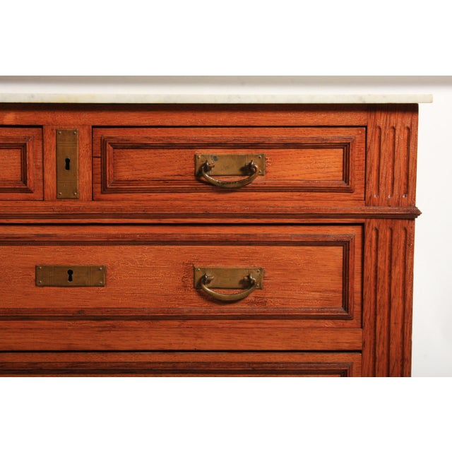 1900 - 1909 Antique Napoleon III-Style Marble Top Dresser Circa 1900 For Sale - Image 5 of 10